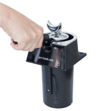 Electric portafilter cleaner
